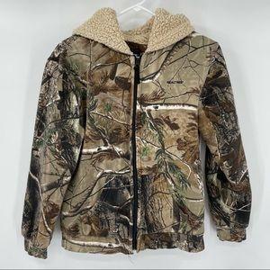 Youth Realtree Camo Sherpa Lined Jacket